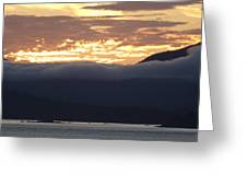 Alaskan Coast Sunset, View Towards Kosciusko Or Prince Of Wales  Greeting Card