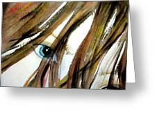 Alex's Eyes Greeting Card by Cheryl Dodd