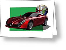 Alfa Romeo Zagato  T Z 3  Stradale With 3 D Badge  Greeting Card