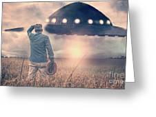Alien Encounter Greeting Card