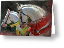All The King's Horses Greeting Card