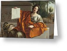 Allegory Of Geometry Greeting Card