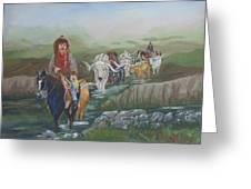 Along The Bozeman Trail Greeting Card