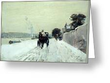 Along The Seine Greeting Card