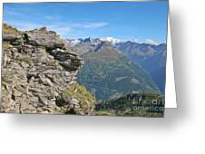 Alps Mountain Landscape  Greeting Card