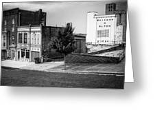 Alton Street In Black And White  Greeting Card