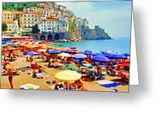 Amalfi Beach Greeting Card
