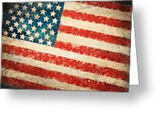 America Flag Greeting Card