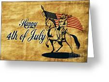 American Cavalry Soldier Greeting Card by Aloysius Patrimonio