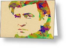 American Legend Johnny Cash Greeting Card