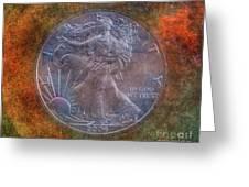 American Silver Eagle Dollar Greeting Card