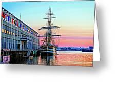 Amerigo Vespucci Tall Ship Greeting Card