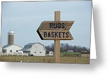 Amish Sign Greeting Card