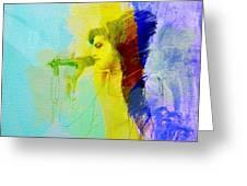 Amy Winehouse Greeting Card by Naxart Studio
