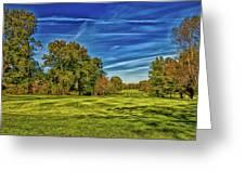 An Autumn Golf Day Greeting Card