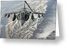 An Av-8b Harrier Receives Fuel Greeting Card