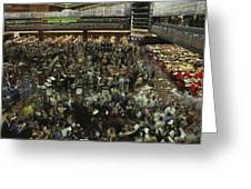 An Elevated View Of Traders Greeting Card