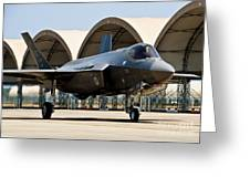 An F-35 Lightning II Taxiing At Eglin Greeting Card