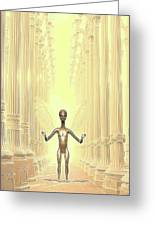 Ancient Alien Angel Greeting Card
