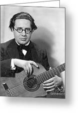 Andres Segovia Greeting Card by Granger