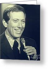 Andy Williams, Singer Greeting Card