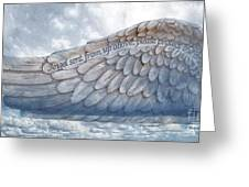 Angel Wing Greeting Card