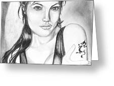 Angelina Jolie Portrait Greeting Card