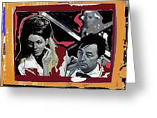 Angie Dickinson Robert Mitchum Pose Collage Young Billy Young Old Tucson Arizona 1968-2013 Greeting Card