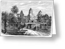 Angkor Wat, Cambodia, 1868 Greeting Card