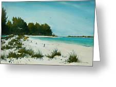Anna Maria Beach Greeting Card
