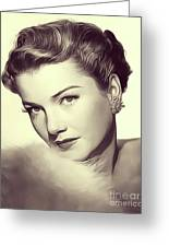 Anne Baxter, Vintage Actress Greeting Card