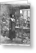 Anne Hutchinson (1591-1643) Greeting Card by Granger
