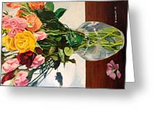 Anniversary Flowers  Greeting Card