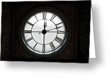 Antique Backlit Clock Greeting Card