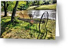 Antique Farm Equipment 1 Greeting Card