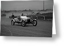 Antique Races Black And White Greeting Card