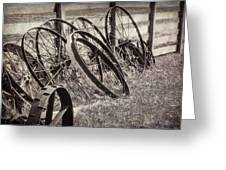 Antique Wagon Wheels I Greeting Card