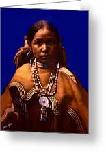 Apache Maiden Greeting Card