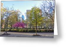April In Rittenhouse Square Greeting Card
