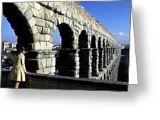 Aquaduct In Lisbon Greeting Card