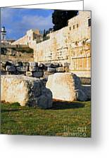 Archaeological Garden Southern Temple Mount Greeting Card