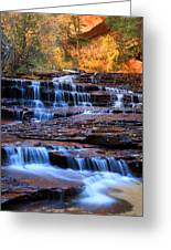 Archangel Falls In Zion Greeting Card