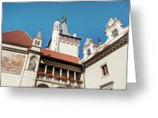 Architecture Details Of Pruhonice Castle Greeting Card