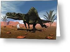 Arizonasaurus Dinosaur - 3d Render Greeting Card