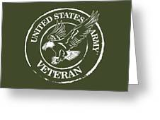 Army Veteran Greeting Card