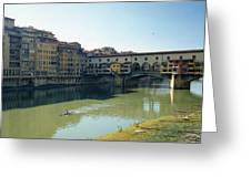 Arno River In Florence Italy Greeting Card