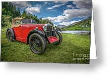 Arriving In Style Greeting Card by Adrian Evans