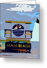 Art Deco Lifeguard Stand Greeting Card