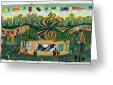 Art In The Park  Greeting Card