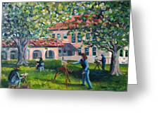 Artists On Location Greeting Card